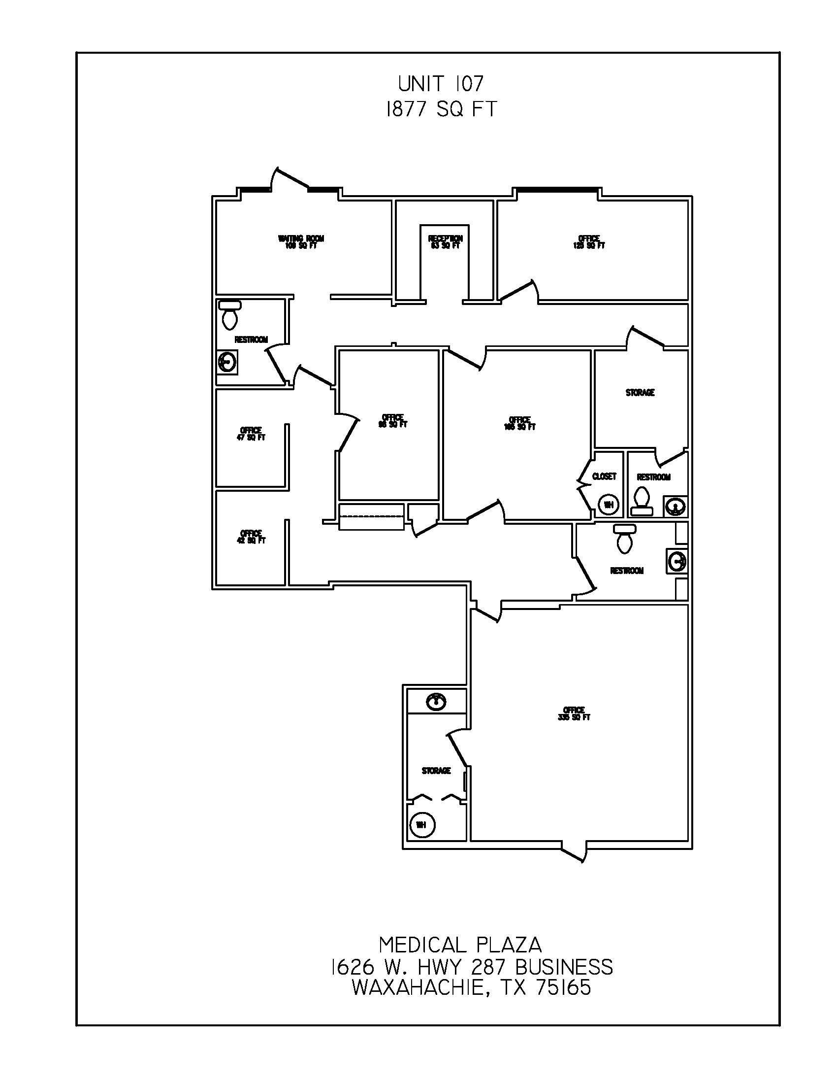 Floor Plan Suite 107