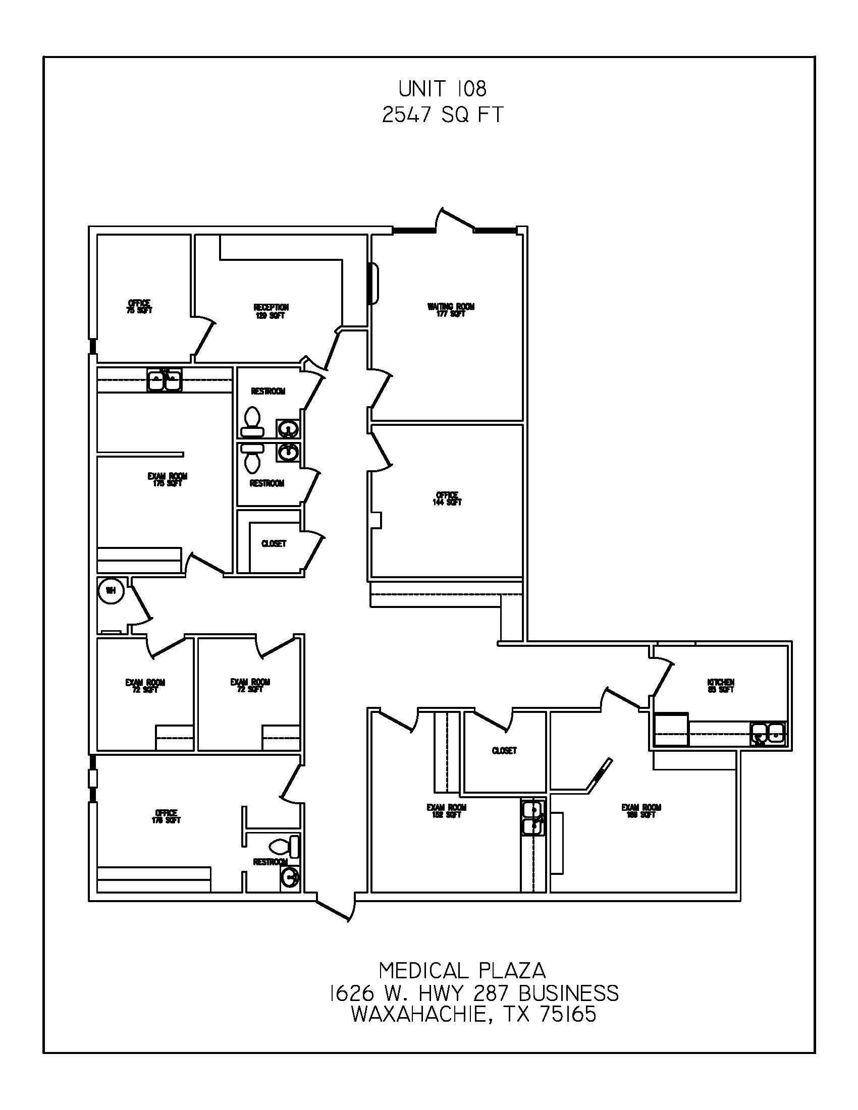 Floor Plan Suite 108
